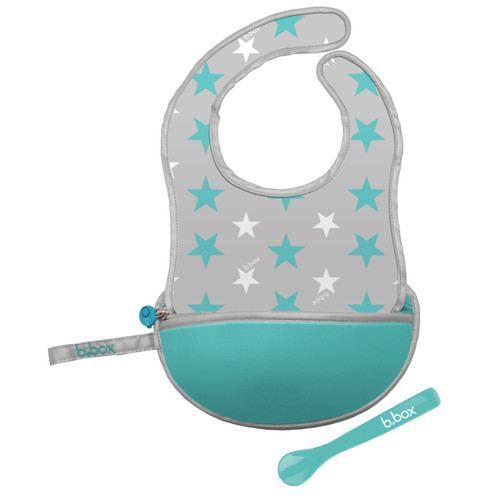 Travel Bib & Spoon Star Burst