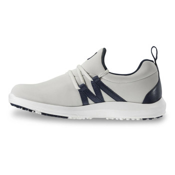 FootJoy FJ Leisure Slip-On Ladies Golf Shoes (Grey/Navy) 92909