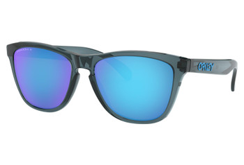 Oakley Sunglasses Frogskins- Crystal Black Frames with Prizm Sapphire Polarized Lenses. OO9013-F655