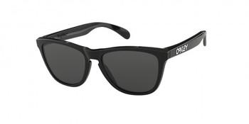 Oakley Sunglasses Frogskins- Polished Black Frames with Grey Lenses. OO24-306