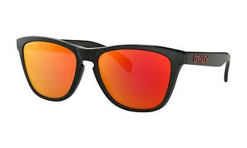 Oakley Frogskins Sunglasses, Black Ink Frames with Prizm Ruby Lenses_OO9013-C955