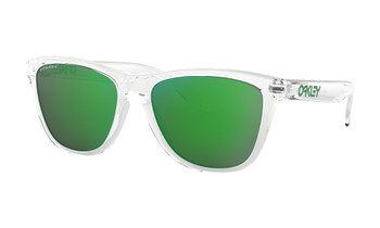 Oakley Frogskins Sunglasses, Crystal Clear Frames with Prizm Jade Lenses. OO9013-D655