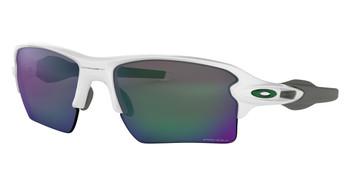 Oakley Half Jacket 2.0 XL Team Colors Sunglasses, Polished White Frames, Prizm Jade Frames, OO9188-9259