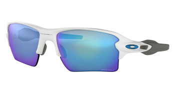 Oakley Half Jacket 2.0 XL Team Colors Sunglasses, Polished White Frames, Prizm Sapphire Frames, OO9188-9459