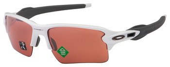 Oakley Flak 2.0 XL Sunglasses , Polished White Frames, Prizm Dark Golf Lenses, OO9188-B159