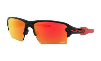 Oakley Chiefs Flak 2.0XL Sunglasses, Matte Black Frames, Prizm Ruby Lenses, OO9188-D259