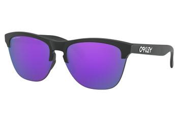 Oakley Frogskins Lite, Matte Black Frames, Prizm Violet Lenses, OO9374-3163