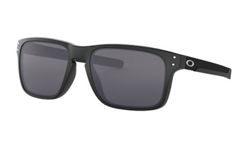 Oakley Holbrook Mix Sunglasses, Matte Black Frames, Grey Lenses, OO9384-0157