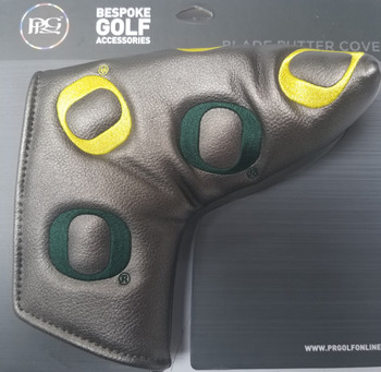 "PRG Oregon Ducks ""Dancing O"" Putter Headcover (Gunmetal)"