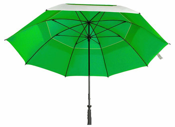 "Sun Tek 68"" UV Protection Wind Cheater Vented Canopy Umbrella (Silver/Green)"