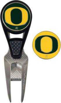 Team Effort Oregon Ducks CVX Divot Tool and Ball Marker Set