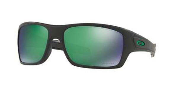 Oakley Turbine Sunglasses, Matte Black Frames, Prizm Jade Polar Lenses, OO9263-4563