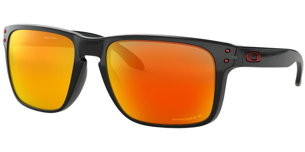 Oakley Holbrook XL Sunglasses, Black Ink Frames, Prizm Ruby Polar Lenses, OO9417-0859