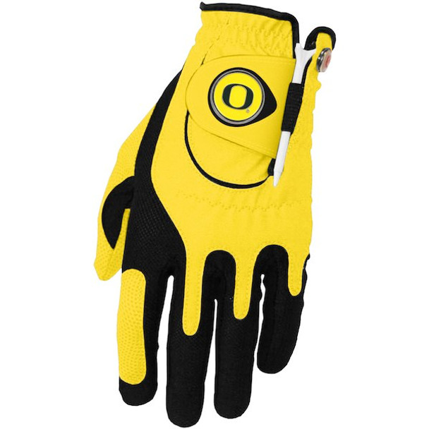 Zero Friction Oregon Ducks Golf Glove (Yellow)