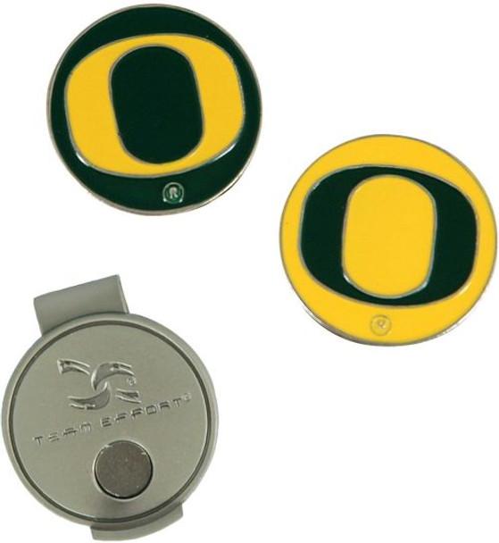 Team Effort Oregon Ducks Hat Clip and Ball Markers Set