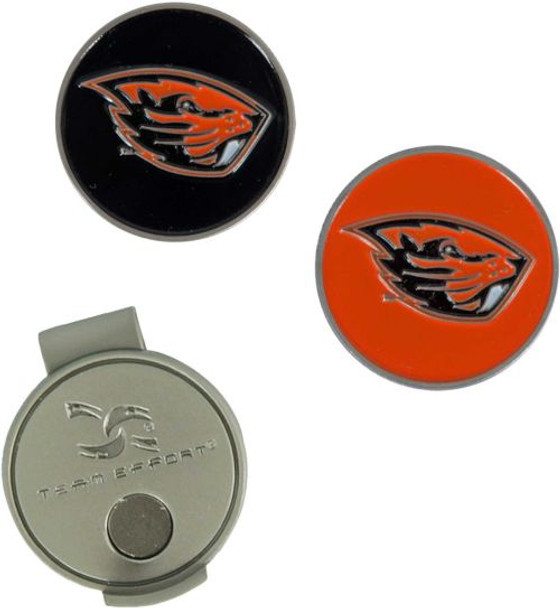 Team Effort Oregon State Beavers Hat Clip and Ball Markers Set