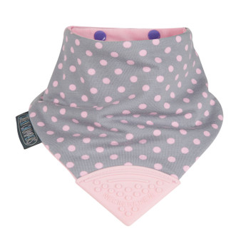 Cheeky Chompers polka dot pink Neckerchew