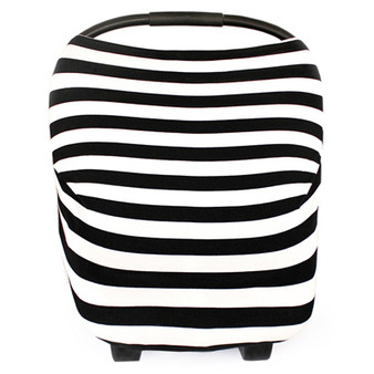 Multi Use Baby Car Seat Cover Black Stripes