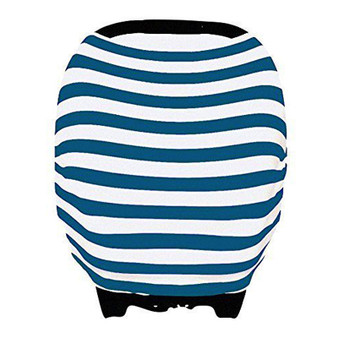 Multi Use Baby Car Seat Cover Blue Stripes