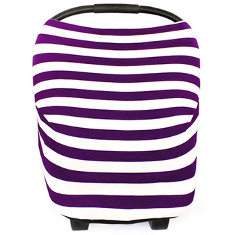 Multi Use Baby Car Seat Cover Purple Stripes