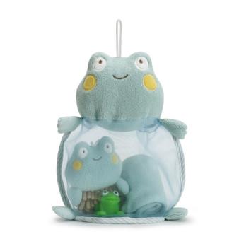 Frog 4 piece bath gift set