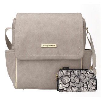 BOXY BACKPACK IN GREY MATTE LEATHERETTE - PETUNIA PICKLE BOTTOM