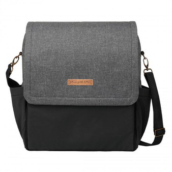 BOXY BACKPACK IN GRAPHITE/BLACK COLORBLOCK - PETUNIA PICKLE BOTTOM