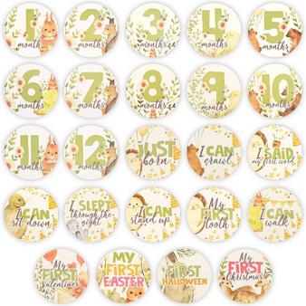 24 BABY MILESTONE STICKERS (WONDERLAND)