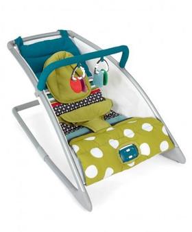 Mama's and Papas Go Go Rocking cradle -carousel lime