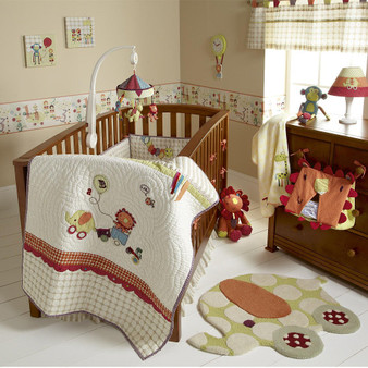 Mama's and papas crib set Jamboree