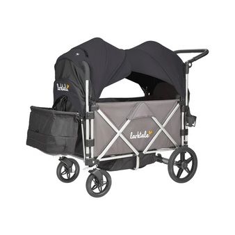 Caravan Stroller/Wagon Mornington Gray Chasis with Byron Black Canopy Set