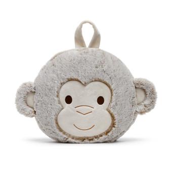 Macey monkey pillow and blanket set