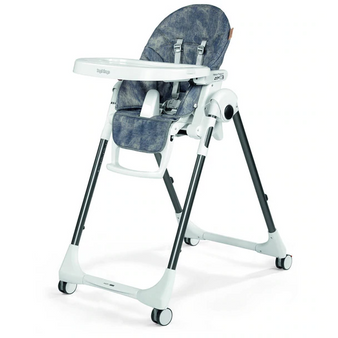 PRIMA PAPPA ZERO 3| High Chairs and Booster Seats (Denim-eco leather)