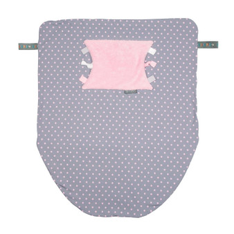 Cheeky Chompers Baby Blanket- Polkadot Pink