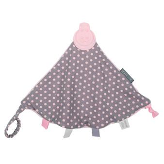Cheeky Chompers Comfort Chew- Polka Dot Pink