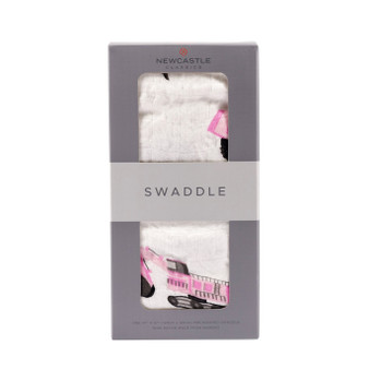 New Castle Pink Digger Swaddle