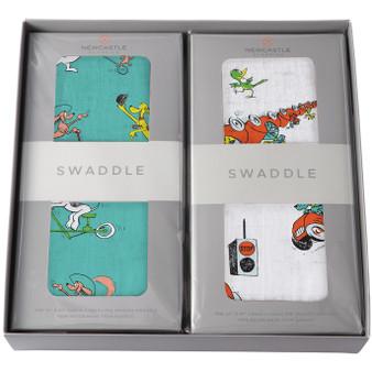 New Castle Go Dog Go!  2 Swaddle Gift Set