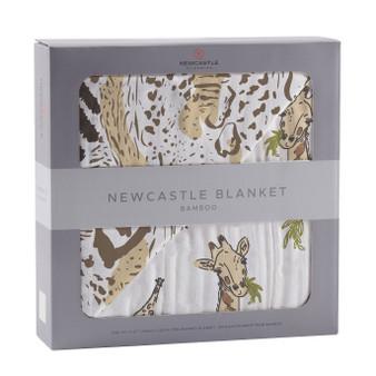 New Castle Hungry Giraffe & Animal Print Baby Blanket