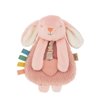 Itzy Lovey Bunny Plush with Silicone Teether Toy