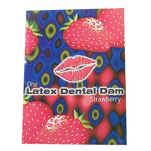 Line One Labs Strawberry Dental Dams Single Package