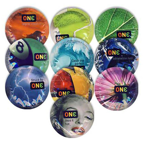 Ten ONE Color Sensations Condoms