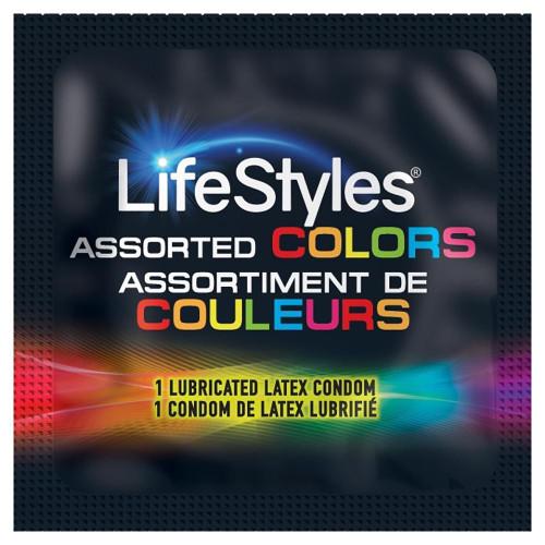 Lifestyles Assorted Colors Condoms