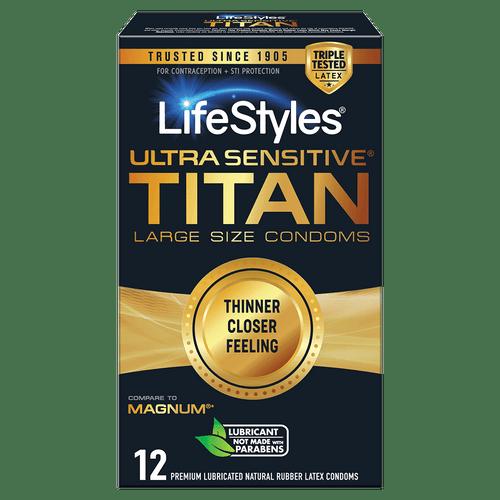 LifeStyles Ultra Sensitive Titan Condoms