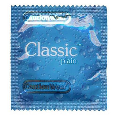 Caution Wear Classic Plain Lubricated Condoms