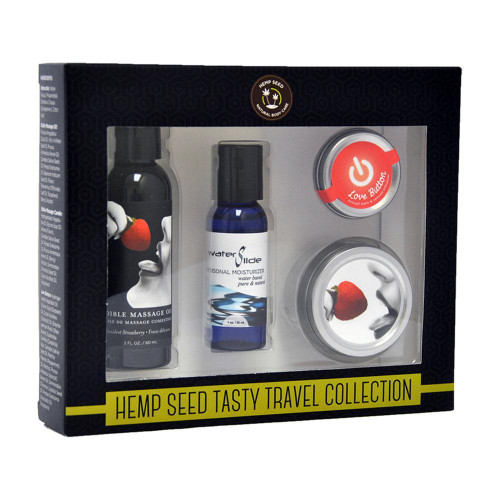 Earthly Body Tasty Strawberry Travel Collection
