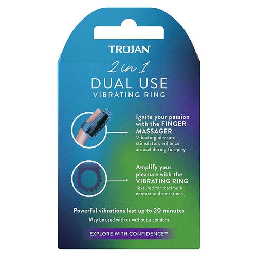 Trojan 2-in-1 Dual Use Vibrating Ring