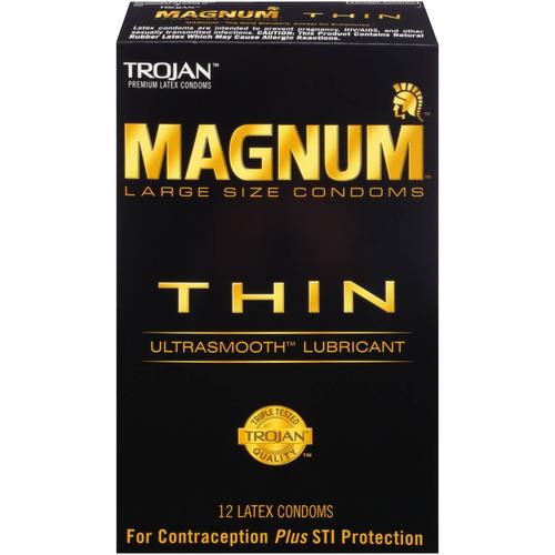 Trojan Magnum Thin Lubricated Condoms