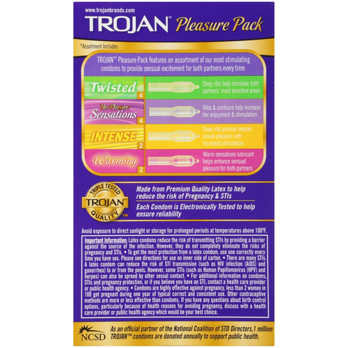 Trojan Pleasure Pack Condoms