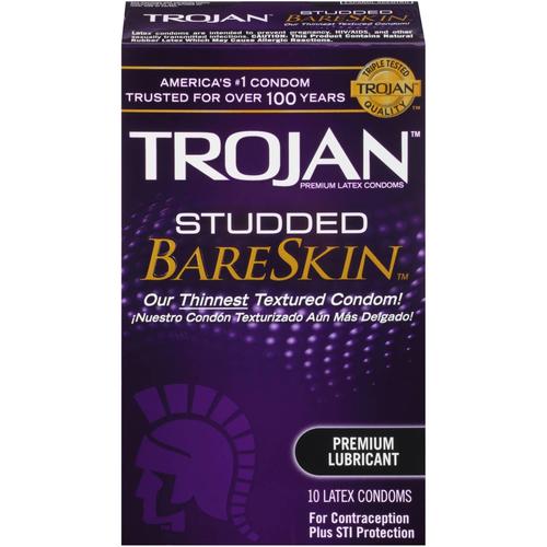 Trojan Studded BareSkin Lubricated Condoms