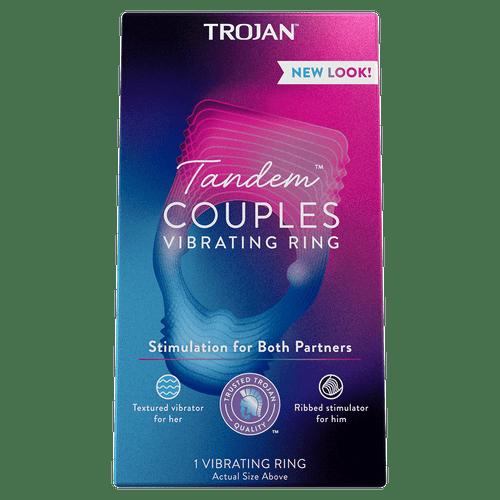 Trojan Tandem Couples Vibrating Ring